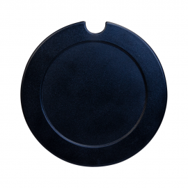 309 - Large License Disc Round - Black
